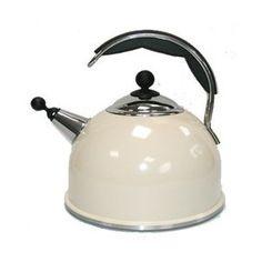 Ceramic Whistling Kettle in Cream