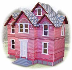 This classic dollhouse features Victorian styling and a pretty pink coat of paint...