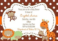 Baby Boy Zoo Baby Shower Invitation by SerendipityPartyShop, $10.00