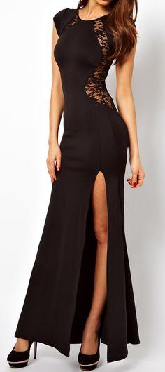 Cheap Elegant Sexy Lace Slim Split Dress &Party Dress For Big Sale! Elegant Dresses, Sexy Dresses, Beautiful Dresses, Long Dresses, Beautiful Models, Summer Dresses, Lace Evening Gowns, Lace Ball Gowns, Fishtail Maxi Dress