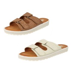 WOMENS DOWN TO EARTH STYLE - F103272 BROWN/LIGHT GREY SYNTHETIC SANDALS