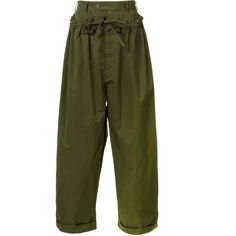 Craig Green loose-fit trousers ($424) ❤ liked on Polyvore featuring men's fashion, men's clothing, men's pants, men's casual pants, green, mens loose fit pants, mens green pants and mens loose fit cargo pants