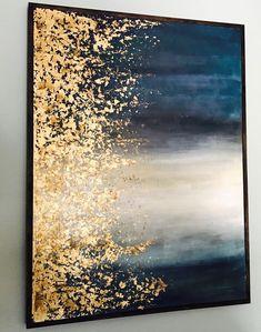 Gold leaf art artsy fartsy en 2019 painting, diy canvas art y gold Bild Gold, Gold Leaf Art, Painting With Gold Leaf, Gold Leaf Paintings, Art Deco Paintings, Modern Art Paintings, Classic Paintings, Foil Art, Painted Leaves