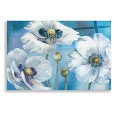 Epic Art 'Blue Dance I' by Lisa Audit, Acrylic Glass Wall Art - 24x16