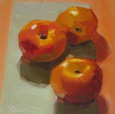 """Nectarines"" - Original Fine Art for Sale - © Robin Rosenthal"