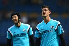 Petr Cech and Thibaut Courtois #ourgoalkeepers