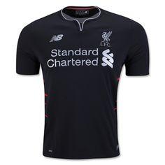 Buy Liverpool Away Soccer Jersey Shirt Black for Custom Liverpool Fc, Liverpool Football Club, British Premier League, Premier League Soccer, Jersey Outfit, Jersey Shirt, Club Outfits, Sport Outfits, World Soccer Shop