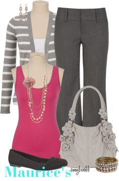 """In My Closet... Full Of Maurice's"" by amybwebb ❤ liked on Polyvore"
