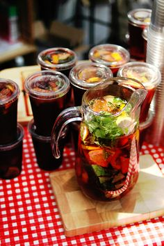 An ice-cold jug of sangria at the Borough Market