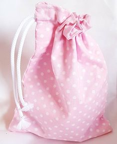 Great little drawstring bag. Suitable for just about anything but make up or toiletries spring to mind. Fully lined with pastel pink fabric. Made of cotton. Pink Fabric, Pink Polka Dots, Toiletry Bag, Pastel Pink, Pretty In Pink, Drawstring Backpack, Kids Toys, Essentials, Etsy Shop