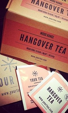 @YourTea has formulated the Hangover Tea to nurse you back from being hungover to feeling fabulous!