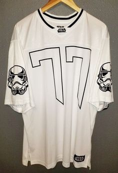 919c512b9055d0 Star Wars Storm Trooper 77 Size Large Football Style Jersey Lucasfilm Ltd  A03