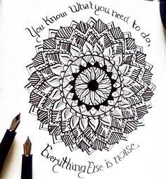 Everything else is just noise. #artofinstagram #instaart #instaartist #drawing #draw #drawsomething #sketchbook #sketchaday #art #artwork #sketch #penandink #pen #ink #artist #pens #mandala #pattern #patterndesign #mandalas #artoftheday #pittsburghartist #pittsburghart #calligraphy #quote #inspirationalquotes
