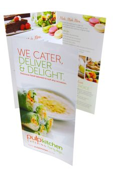 Vanilla's new Wedding Catering brochure layout, Designed by www ...
