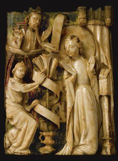 Two English alabaster reliefs from a series of the Joys of the Virgin, 15th century, Nottingham   lot   Sotheby's