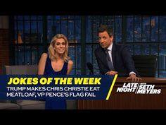 Seth's Favorite Jokes of the Week: Trump Makes Chris Christie Eat Meatloaf, VP Pence's Flag Fail - YouTube