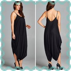 """💥HOST PICK 7/9💥SLEEVELESS HAREM JUMPSUITS This harem jumper will be your go to outfit for cute comfort!  Very roomy and flowy! Rayon/polyester blend.                                                            ♦️1X: bust 42-44""""  ♦️2X: bust 45-47""""                                                           ♦️3X: bust 47-48""""                                                           Impossible to measure inseam since there isn't one! But the longest length from shoulder to bottom is 57"""", crotch…"""