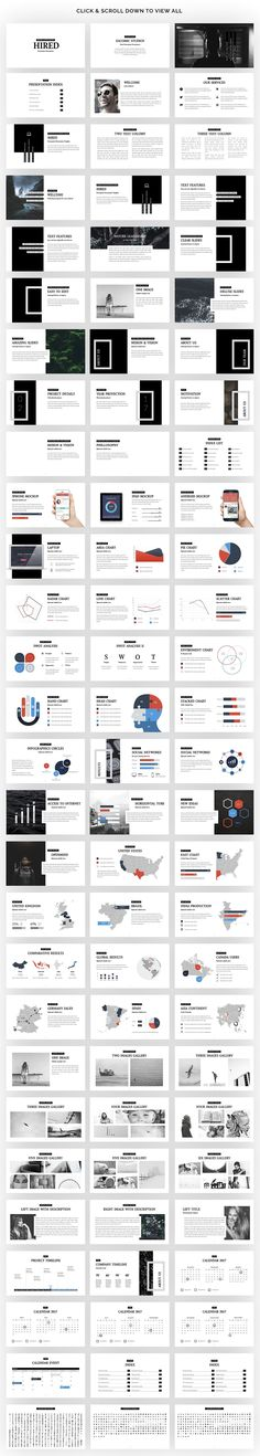 Hired | Powerpoint Presentation by Zacomic Studios on @creativemarket