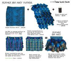 How to make boa skirt!