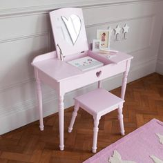 Buy beautiful kids' dressing tables and stools with free returns! Choose from children's vanity tables, dressing up rails, clothes hangers and more. Childrens Dressing Table, Childrens Vanity, Dressing Table With Stool, Dressing Tables, Bed Furniture, Furniture Makeover, Princess Room, Big Girl Rooms, Cool Beds