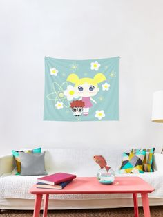 'Dexter's Lab - Siblings' Tapestry by demonkourai Dee Dee, Dexter, Tapestries, Siblings, Lab, Kids Rugs, Unique, Home Decor, Hanging Tapestry
