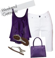 """weekend getaway"" by mariealvarez on Polyvore"