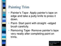 How to Painting Trim