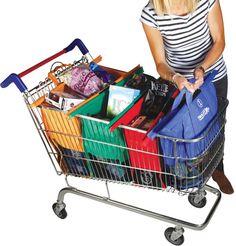Trolley bags, great idea.