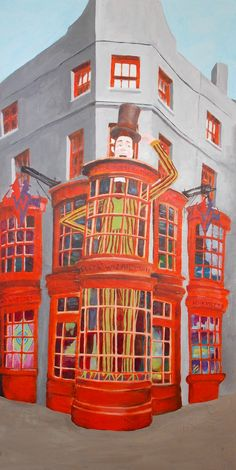 Weasleys Wizard Weezes painting by Dina Bielby