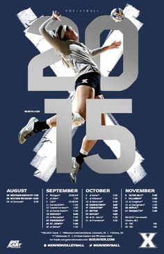 Xavier 2015 Volleyball Poster