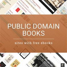 25 sources of free public domain books Want to load your e-reader or tablet with free ebooks, legally? Check out the sites that offer all-time classics from the public domain Public Domain Books, Kindergarten First Day, Literature Circles, Open Library, Book Sites, Book Organization, Book Projects, Classic Books, Free Reading