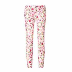 pants The pants are white with floral print , has a black button which will luse, we have it in one size fits all, it costs $ 150.00