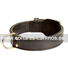 8bba67605d53 Ancho collar de diseño doble cuero máximo confort para adiestramiento de  perros grandes y potentes Dogo