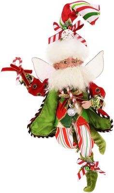 Candy Cane Fairy Small 12 Inches  Mark Roberts Fairies Always ship for Free at Florida Gifts www.FloridaGiftsOnline.com