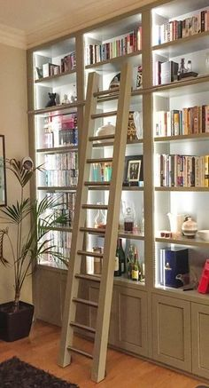 Built In Bookcase Lighting Fresh Bookshelves with Built In Light Home Library Design, Home Office Design, Home Office Decor, House Design, Home Decor, Bookshelf Design, Bookshelves Built In, Billy Bookcases, Billy Bookcase Hack
