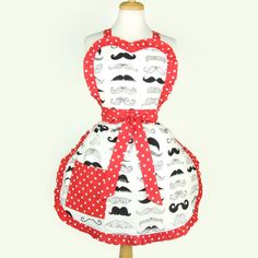 Mustache Apron / Vintage Inspired Mustaches by VintageGaleria, $28.00