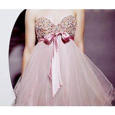 dress pink sparkle bow