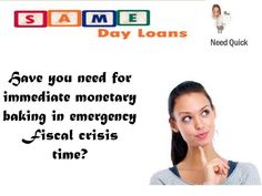 Same day loans for self working are perfect to meet education operating cost with effortlessness. You can with no trouble settle down your significant requirements within no time.