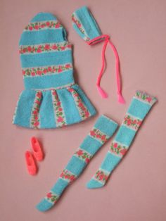 Difficile-da-trovare-restare-uniti-1968-1842-MOD-Bambola-Vestiti-Outfit-Set-Barbie-Vintage