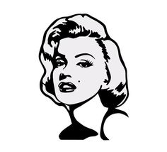 Items similar to Marilyn Monroe Vinyl Decal / Sticker, multiple colors available on Etsy Marylin Monroe, Marilyn Monroe Dibujo, Marilyn Monroe Stencil, Marilyn Monroe Drawing, Marilyn Monroe Artwork, Marilyn Monroe Portrait, Cool Art Drawings, Easy Drawings, Vector File