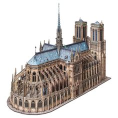 This challenging yet fun paper craft kit builds into a scaled replica of the Notre-Dame de Paris!The parts are made from laser-cut paper and/or cardboard