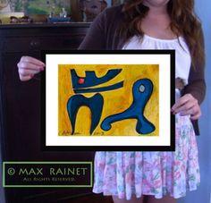 Blue Dragon Original Art Modern Pop Abstract Minimalist Signed Print Dog Cat | eBay