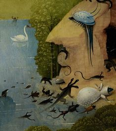 Hieronymus Bosch, Garden of Earthly Delights, detail