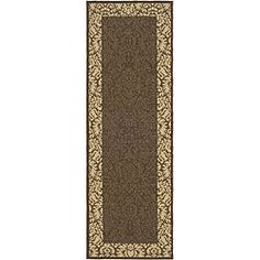 @Overstock.com - Indoor/ Outdoor Kaii Chocolate/ Natural Runner (2'4 x 6'7) - Complete your living room or patio decor with this brown indoor/outdoor rug. The long runner is weather-resistant, so you don't have to worry about it getting ruined by the elements. Plus, the natural colors are sure to complement any color scheme.  http://www.overstock.com/Home-Garden/Indoor-Outdoor-Kaii-Chocolate-Natural-Runner-24-x-67/4765827/product.html?CID=214117 $37.99
