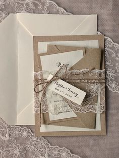 Custom listing (100) Rustic Wedding Invitation, Buralp Wedding Invitations,  Rustic Wedding  Invitations, Lace Wedding Invitation by forlovepolkadots on Etsy https://www.etsy.com/listing/203999079/custom-listing-100-rustic-wedding