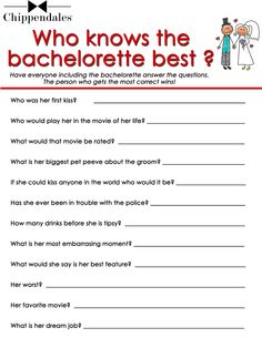 Print Bachelorette Party Goodies | Oh lord to see the answers people would come up with lol