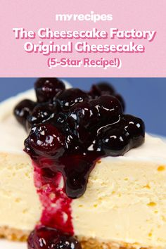 The Cheesecake Factory Original Cheesecake Absolutely perfect The Cheesecake Factory has more than 30 cheesecake flavors but it s the original that makes us swoon Try this copycat version and you won t be disappointed The Cheesecake Factory, Fig Cake, Classic Cheesecake, Star Food, Dessert Dishes, Salty Cake, Cheesecake Recipes, Cheesecake Dip, Homemade Cheesecake