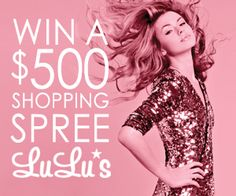 Enter the LuLu*s giveaway to win a $500 shopping spree!! #giveaway