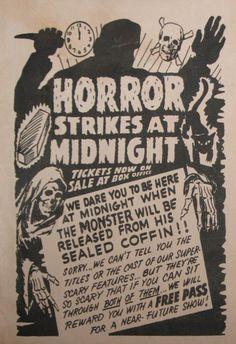 Horror Strikes at Midnight!