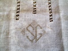 Door curtain embroidered Linen curtain monogrammed by linenartisan /handmade, hand embroidered